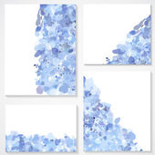 Set of four banners, headers with blue blots — Vettoriale Stock