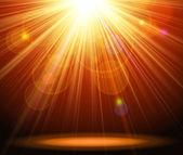 Fondo luz mágica — Vector de stock