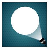 Spotlight projecting to blank wall — Stock Vector