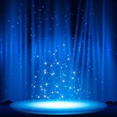 синий этапе с помощью spotlight. — Cтоковый вектор