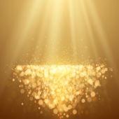Lights on yellow background bokeh effect. — Stock Vector