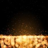 Scintillanti stelle su sfondo bokeh — Vettoriale Stock