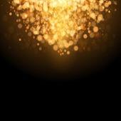 Gold festliche weihnachten hintergrund. — Stockvektor
