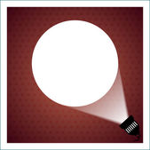 Spotlight projecting to blank wall — Stock Vector
