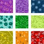 Nine seamless patterns — Stock Vector