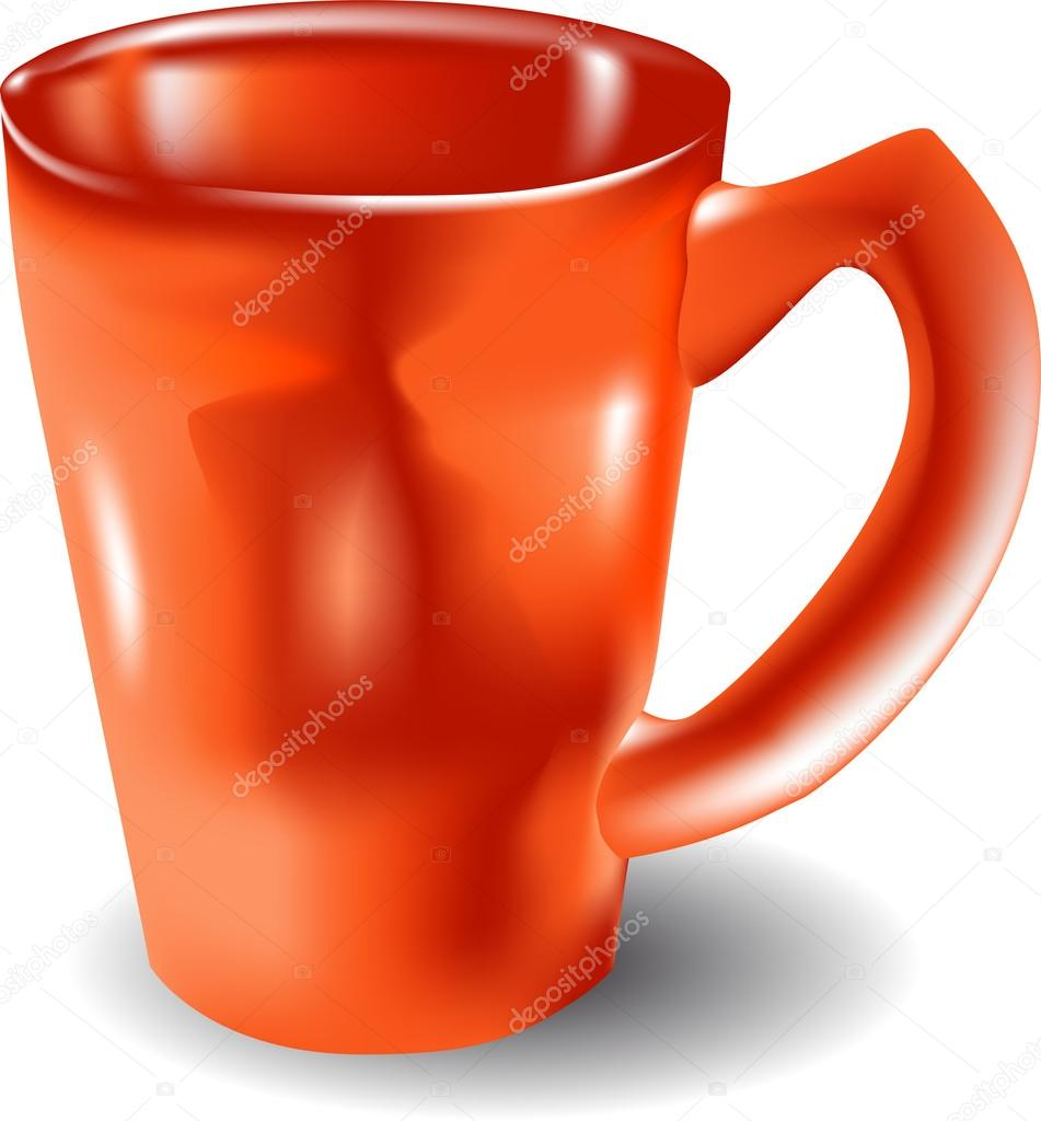 Orange mug isolated on the white background — Stock Vector #13172808