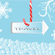 Winter travel sing — Stock Vector