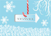 Winter travel sing — Stock Vector