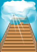 Stairway to the sky — Stock Vector