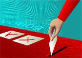 Voto — Vettoriale Stock