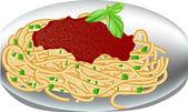 Talíř špaget — Stock vektor