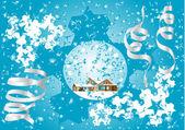 Blue Christmas fantasy — Stock Vector