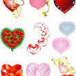 Set of hearts for Valentine — Imagen vectorial