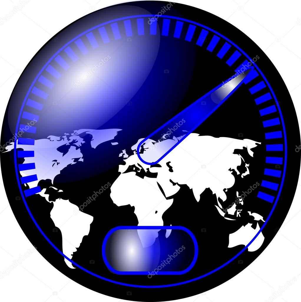 车速表用的世界地图