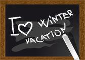 Vacaciones de invierno — Vector de stock