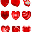 Royalty-Free Stock Vector Image: Set of red hearts