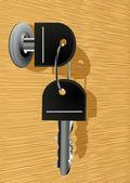 Nyckeln i låset — Stockvektor