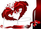 Splash of wine — Stock Vector