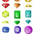 Set of precious stones — Vector de stock #19453579