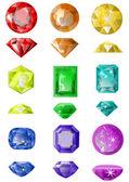 Conjunto de piedras preciosas — Vector de stock