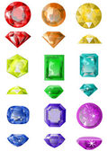 Set of precious stones — Vector de stock