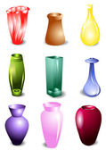 Set of vases — Stock Vector