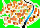 şehir planı — Stok Vektör