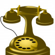 Antique phone — Stock Vector