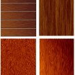 4 texture of wood — Stock Vector