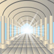 Light in the end of tunnel — Stock Vector
