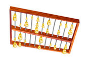 Lluvia dorada de ábaco — Vector de stock