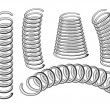 Stock Vector: Set of springs
