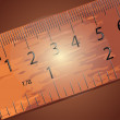 Wooden ruler - Stock Vector