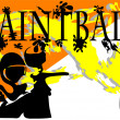 Paintball. abstract background — Stock Vector
