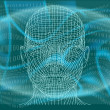 Man in cyberspace - Stock Vector