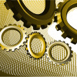 Abstract background with gears — Stock Vector