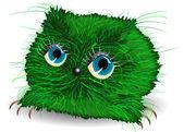 грустный зеленый монстр — Cтоковый вектор