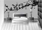 Grey bedroom — 图库矢量图片