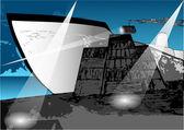 Loading a ship — Stock Vector