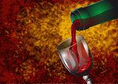 ワインを注ぐ — ストックベクタ