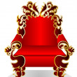 Red throne — Stock Vector