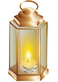 Lantern with a candle — Stock Vector