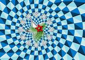 Christmas and optical illusion — Stock Vector