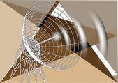 Abstract antenna — Stock Vector