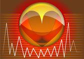 Heart rhythms — Stock Vector
