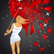 Broken heart — Vector de stock