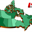 Map canada — Stock Vector