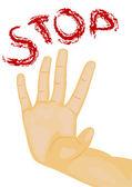 Hand stop — Stock Vector