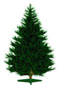 Empty Christmas tree — Stock Vector
