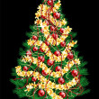 Decoration Christmas tree — Stockvektor